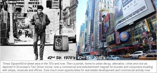 42nd street in 70s and 2010